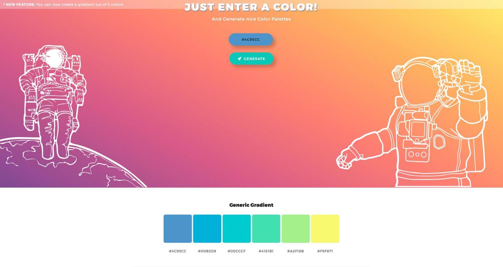 Palette sito web