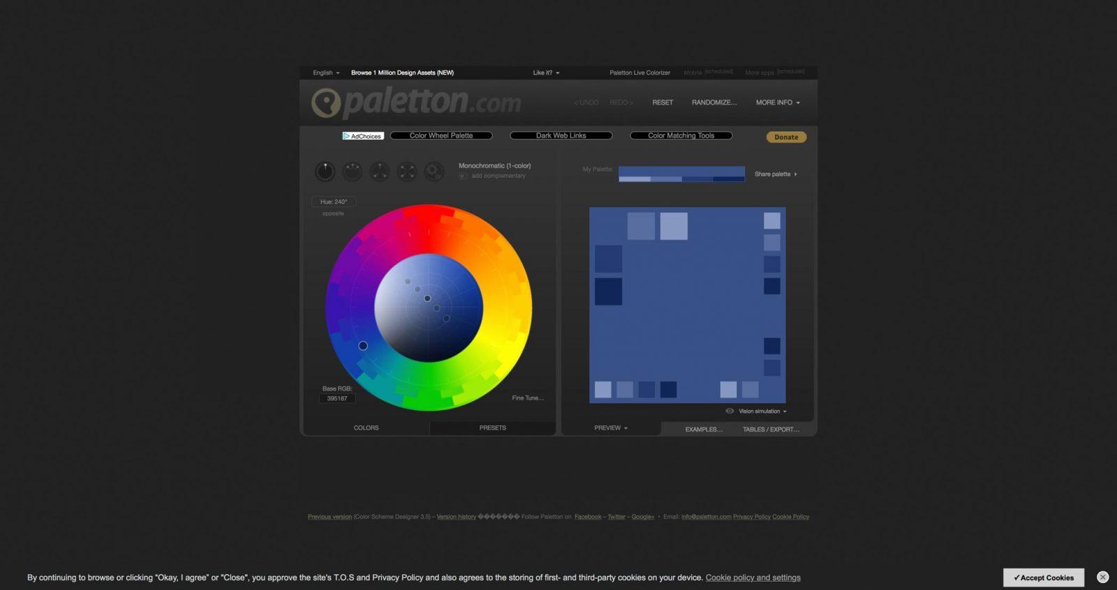 colori per siti web