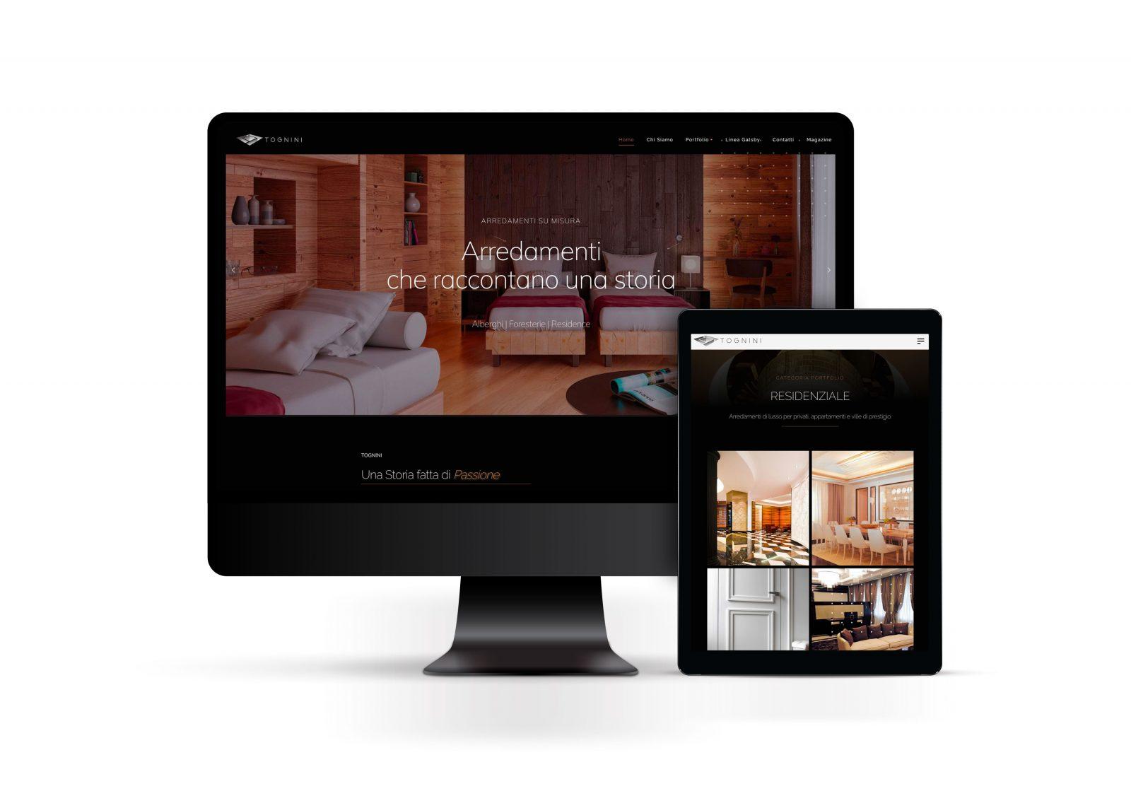 Esempio di creazione siti web Milano computer e tablet